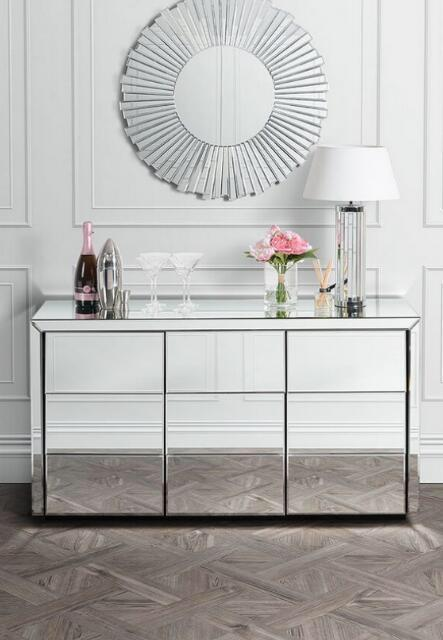 Venetian Large Classic Mirrored Sideboard