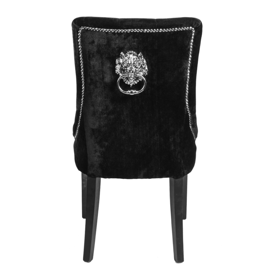 Lion Dining Chair Black (Box of 2 Chairs)