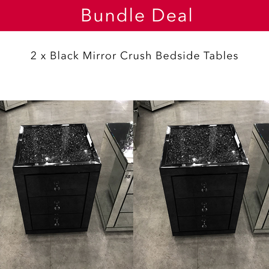 The Black Mirror Crush Bedside Pair
