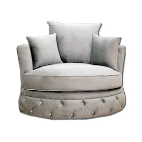 Florence Cuddle Chair in Silver