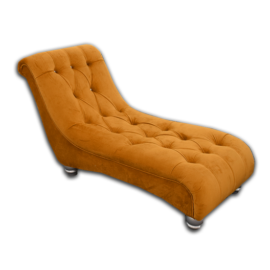 Eva Chaise Longue in Sunflower Orange | HOS Home | Mirrored furniture | Affordable Luxury
