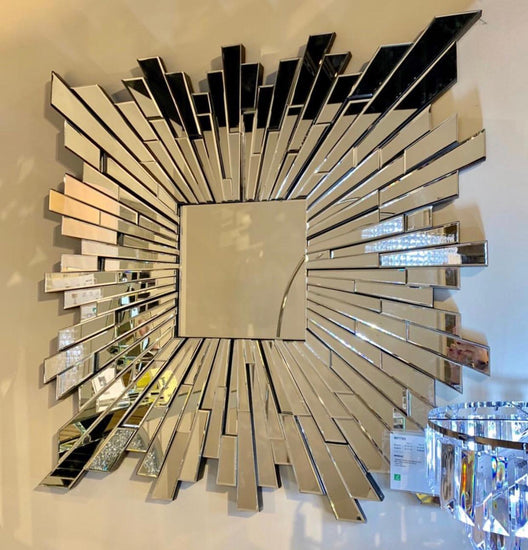 Sunburst Square Wall Mirror