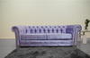 Anna Chesterfield 3 Seater in Lavender - Mirrored furniture - Sparkle Diamond - House of Sparkles