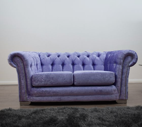 Anna Chesterfield 2 Seater in Lavender - Mirrored furniture - Sparkle Diamond - House of Sparkles