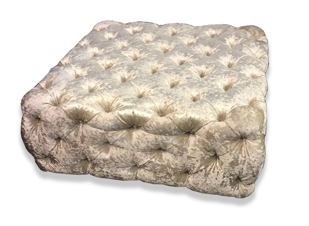 Exclusive Chesterfield Footstool - Mirrored furniture - Sparkle Diamond - House of Sparkles