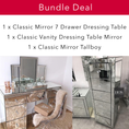 Image of Classic Mirror Bedroom Bundle | HOS Home | Mirrored furniture | Affordable Luxury