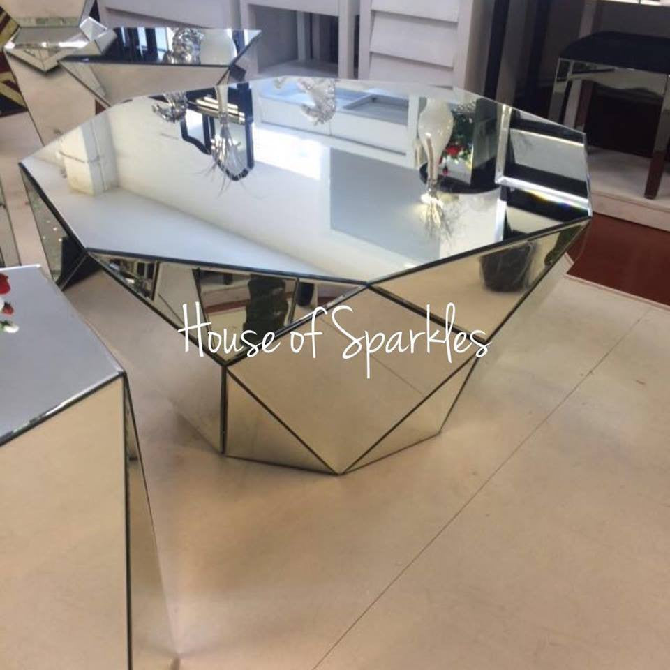 Pictures Of Mirrored Coffee Table: Classic Mirror Coffee Table