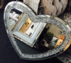 Diamond Crush Heart Mirror - Mirrored furniture - Sparkle Diamond - House of Sparkles