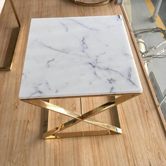Soho Marble and Chrome Side Table