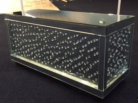 Floating Crystal Coffee Table - Mirrored furniture - Sparkle Diamond - House of Sparkles