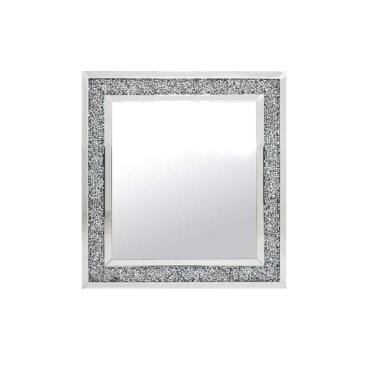 Diamond Crush Wall Mirror (60x60cm) | HOS Home | Mirrored furniture | Affordable Luxury
