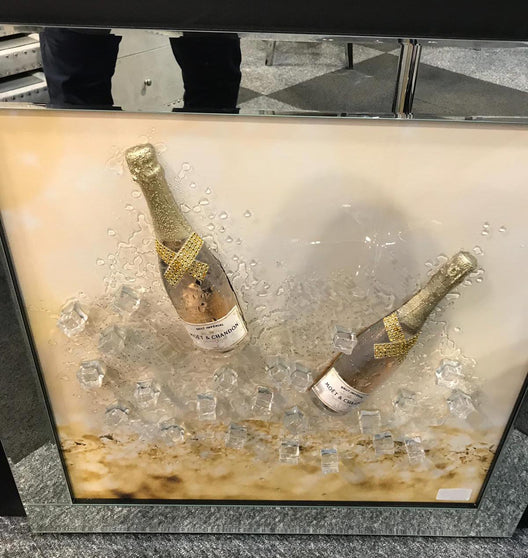 Gold Champagne 3D Wall Art