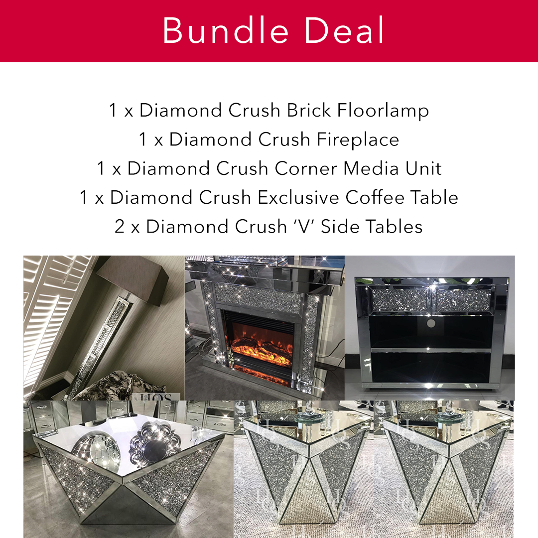 Diamond Crush Super Bundle - Mirrored furniture - Sparkle Diamond - House of Sparkles