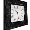 Black Mirror Crush Wall Clock - Mirrored furniture - Sparkle Diamond - House of Sparkles