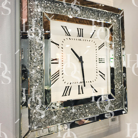 Diamond Crushed Wall Clock
