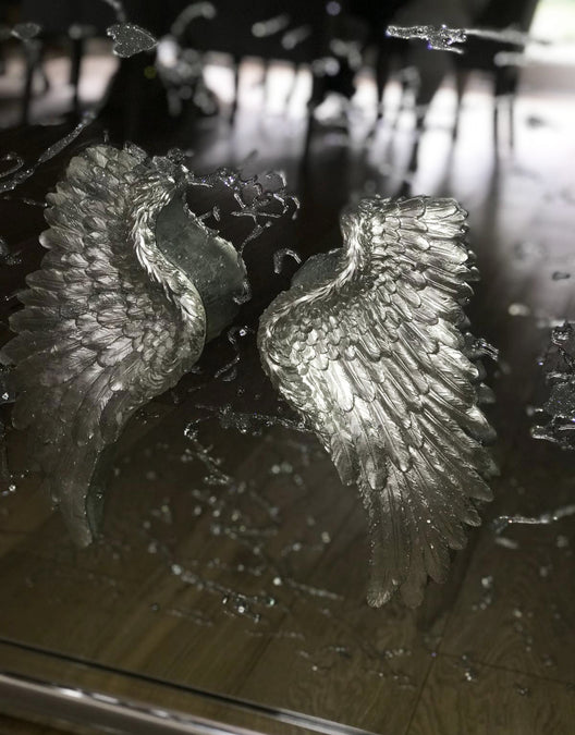 Angel Wings 3D Mirrored Wall Art | HOS Home | Mirrored furniture | Affordable Luxury