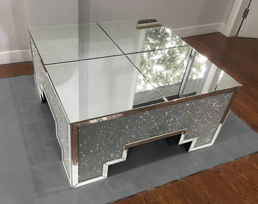 Fantasia Mirrored Coffee Table | HOS Home | Mirrored furniture | Affordable Luxury