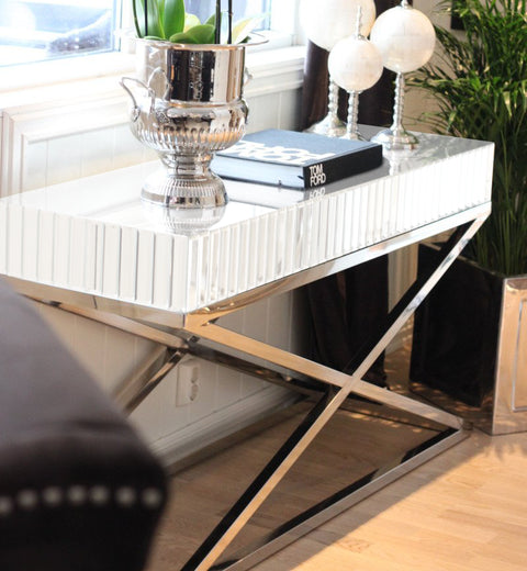 The Gatsby White Mirror Console Table