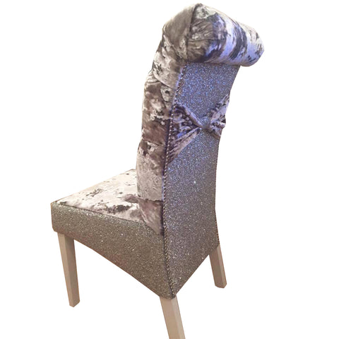 Glitter Back Luxury Dining Chairs - Mirrored furniture - Sparkle Diamond - House of Sparkles