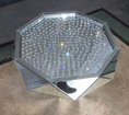 Image of Floating Crystal Classic Mirror Coffee Table - Mirrored furniture - Sparkle Diamond - House of Sparkles