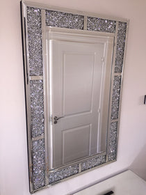 Diamond Crush Brick Wall Mirror | HOS Home | Mirrored furniture | Affordable Luxury