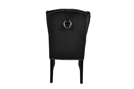 Black Luxury Wing Back Dining Chairs | HOS Home | Mirrored furniture | Affordable Luxury