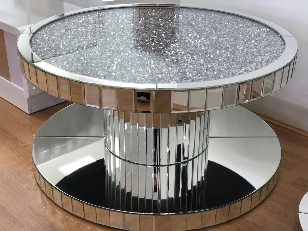 Diamond Crush Circular Coffee Table
