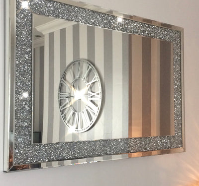Diamond Crush Wall Mirror (120X80cm)