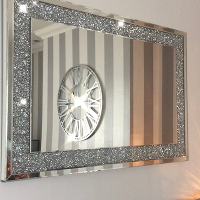 Diamond Crush Wall Mirror (120X80cm)-PRE ORDER FOR JANUARY 2019