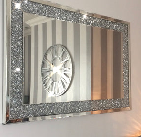 Diamond Crush Wall Mirror (120X80cm)- | HOS Home | Mirrored furniture | Affordable Luxury