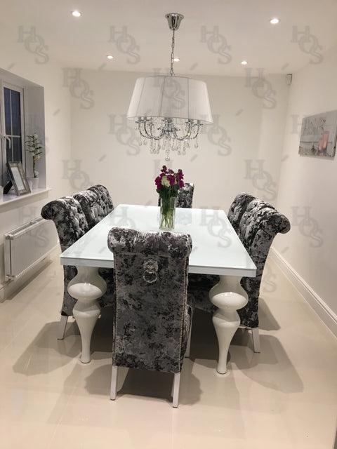 The 8 Seater Empire Dining Set with made to order chairs