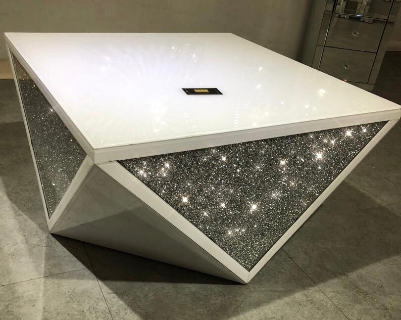 White Mirror Crush Exclusive Coffee Table - PRE ORDER FOR JAN 2019