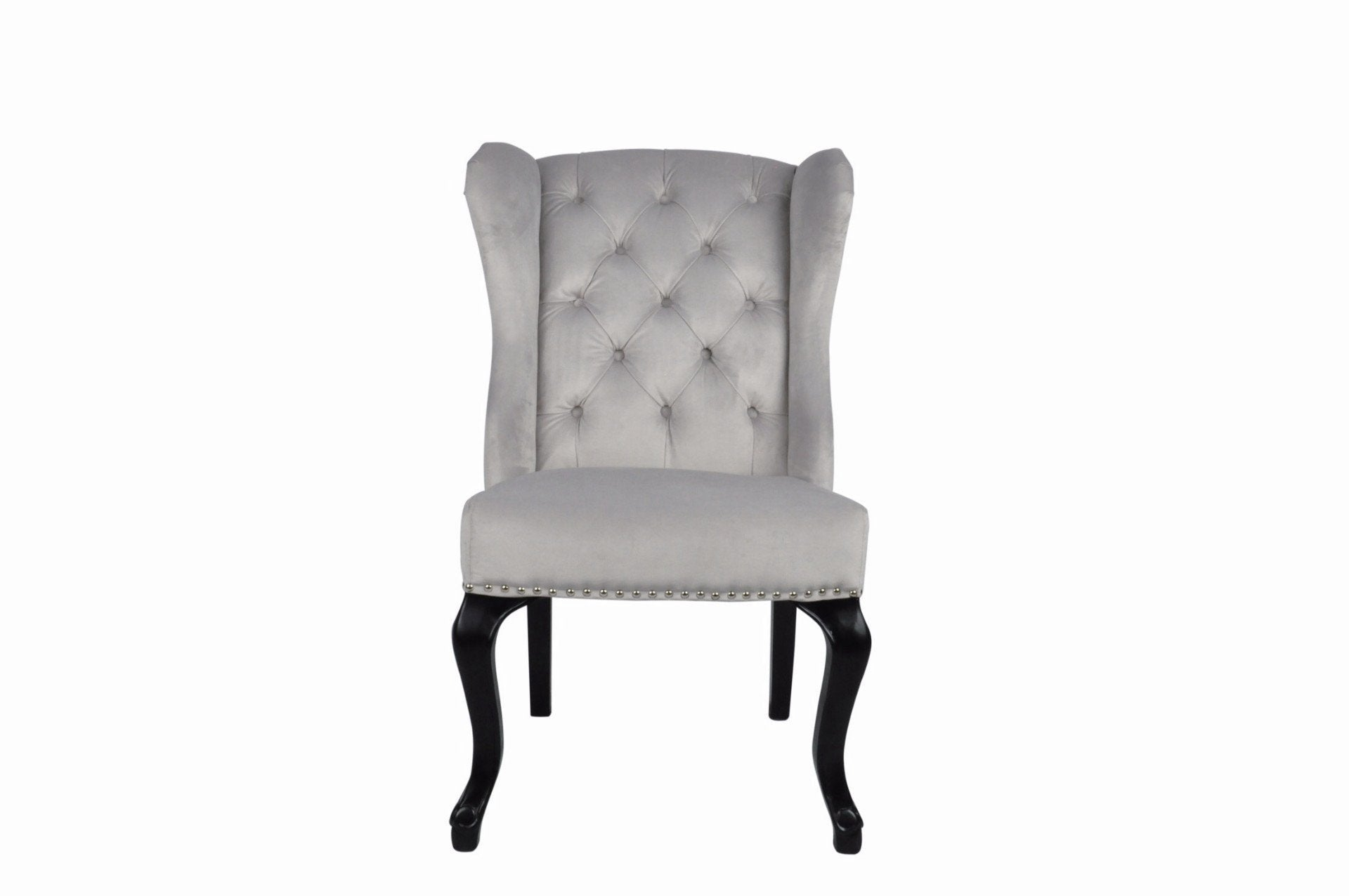 Silver Luxury Wing Back Dining Chairs