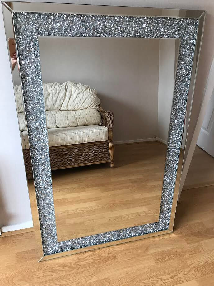 Diamond Crush Wall Mirror - Mirrored furniture - Sparkle Diamond - House of Sparkles