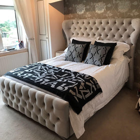 Duchess Bed | HOS Home | Mirrored furniture | Affordable Luxury