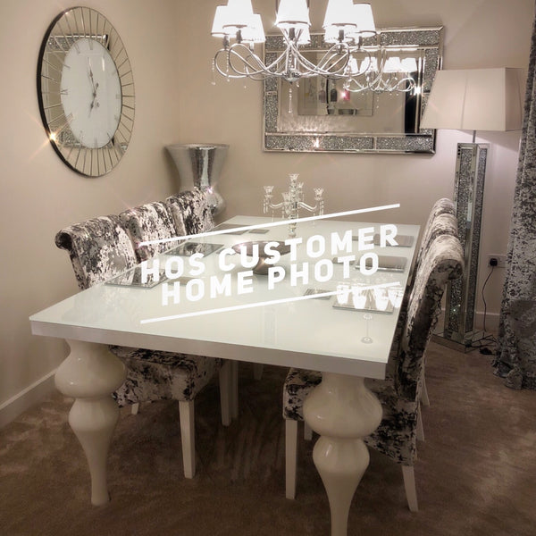 The 8 Seater Bespoke Empire Dining Set House Of Sparkles