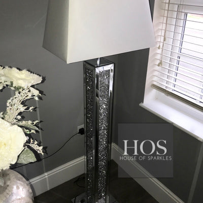 Diamond Crush 3 Dimensional Floor Lamp - Mirrored furniture - Sparkle Diamond - House of Sparkles