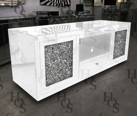 White Mirror Crush Large Media Unit