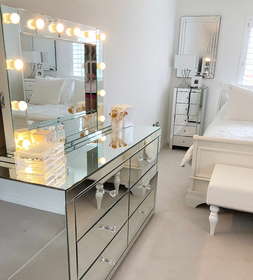 Large Classic Mirrored Hollywood Mirror