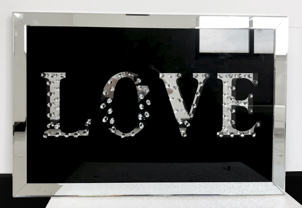 Floating Crystal Love Wall Art – House of Sparkles