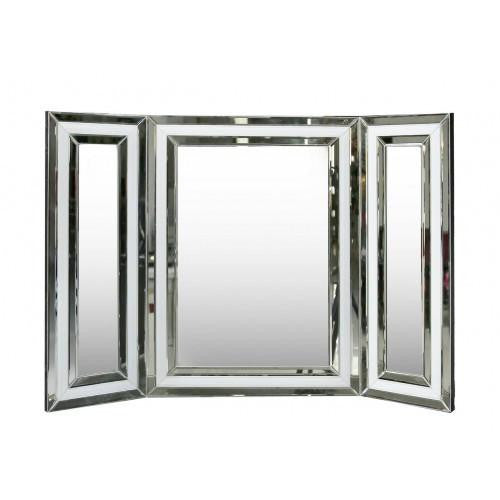 White Seattle Dressing Table Mirror - Mirrored furniture - Sparkle Diamond - House of Sparkles
