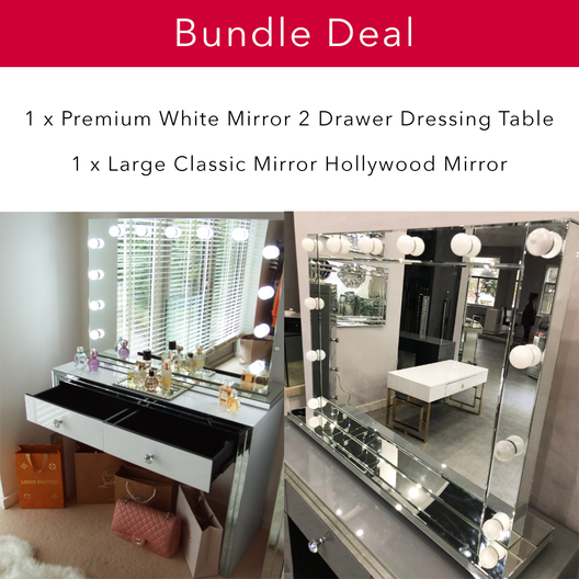 The Premium White Mirror Glam Bundle