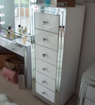 Image of Premium White Mirror 6 Drawer Tallboy-PRE ORDER FOR JANUARY 2019