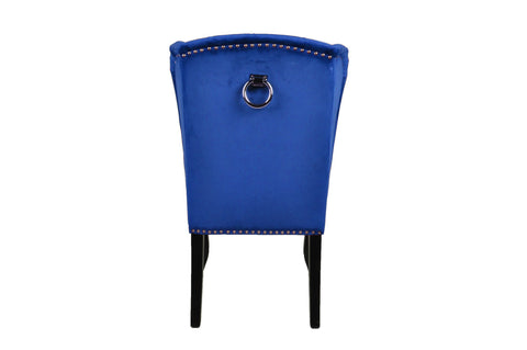 Royal Blue Luxury Wing Back Dining Chairs
