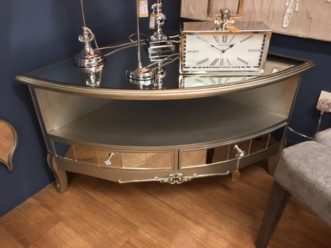 Argente Antique Corner TV Unit - Mirrored furniture - Sparkle Diamond - House of Sparkles