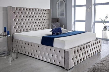 Duke Bed | HOS Home | Mirrored furniture | Affordable Luxury