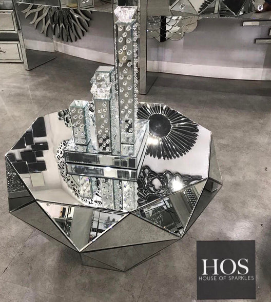 Classic Mirrored Coffee Table | HOS Home | Mirrored furniture | Affordable Luxury