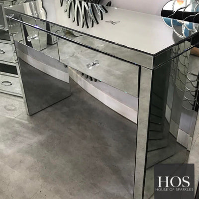 2 Drawer Classic Mirrored Dressing Table | HOS Home | Mirrored furniture | Affordable Luxury