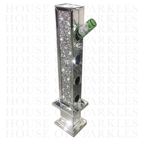 Diamond Crush Wine Bottle Holder - Mirrored furniture - Sparkle Diamond - House of Sparkles