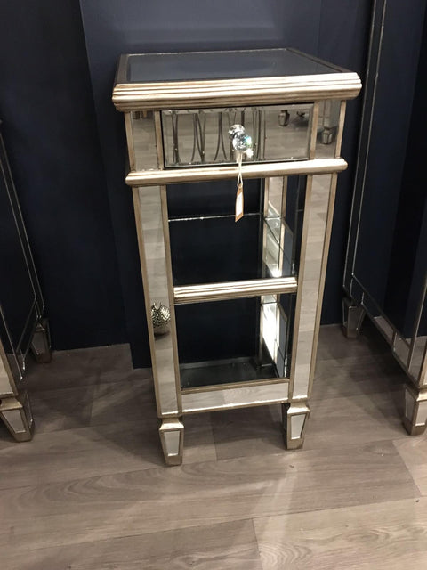 The Belfont Collection One Drawer Mirrored Table
